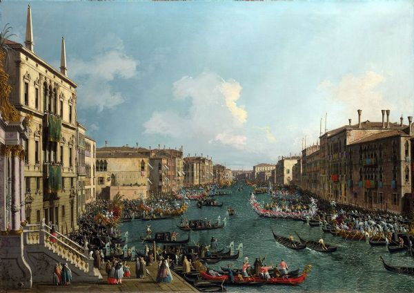 Canaletto, Giovanni Antonio Canal: A Regatta on the Grand Canal. Fine Art Print/Poster. Sizes: A4/A3/A2/A1 (003454)